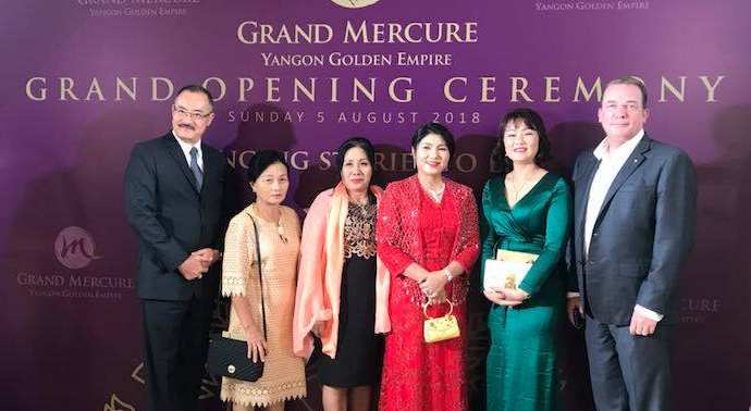 Grand Mercure Yangon Golden Empire Hotel သစ္ဖြင့္ပြဲ