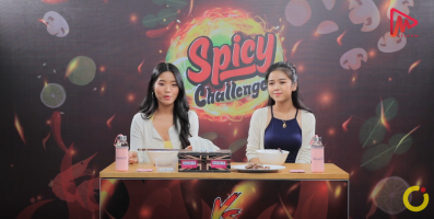 Spicy Challenge( Phone Thiri Kyaw & Ashley KoKoe )