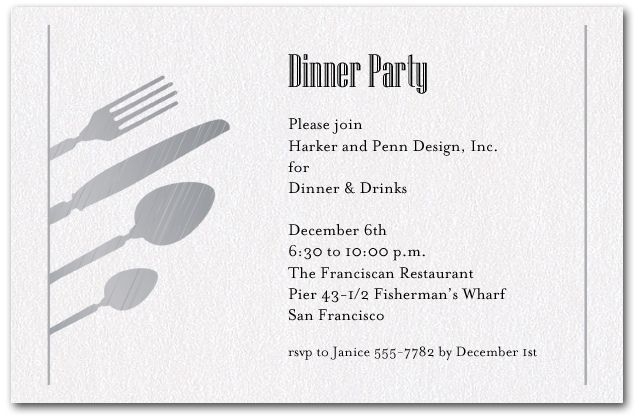 Dinner party invitation wording northurthwall stopboris Choice Image