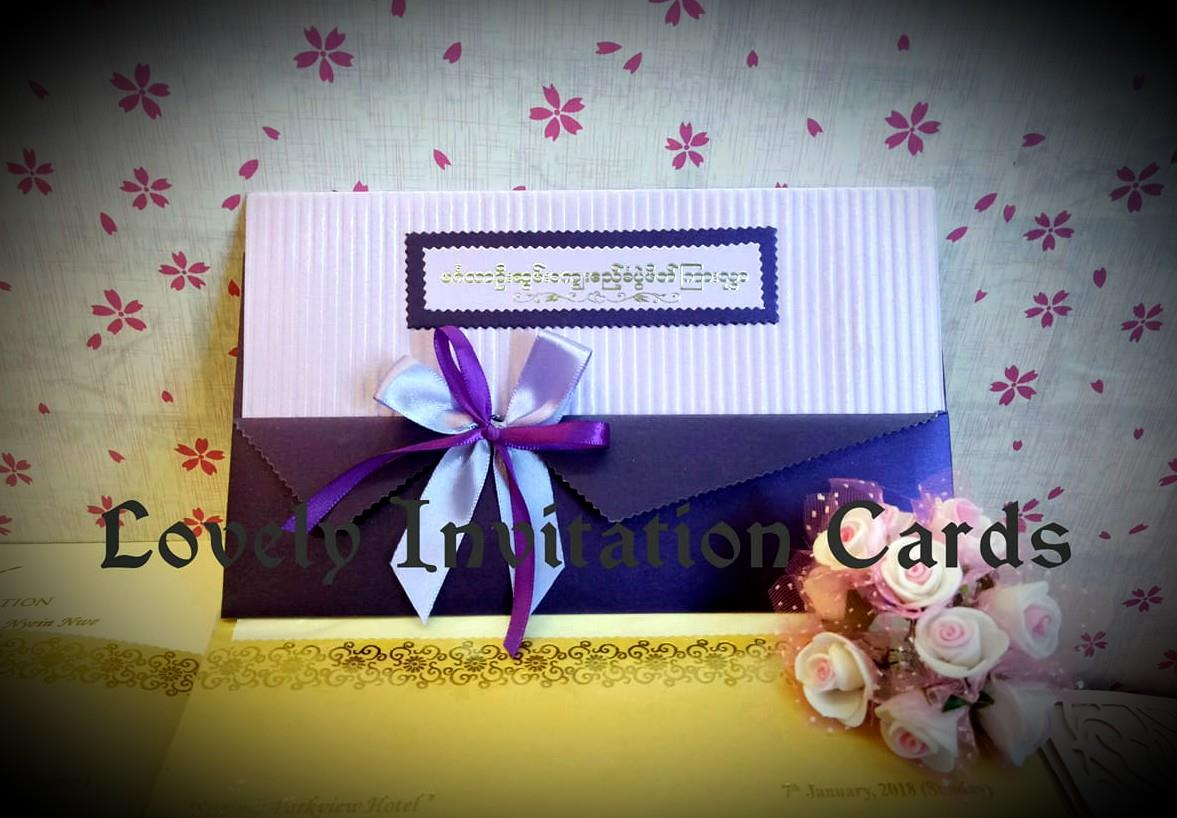 Lovely Wedding Invitation Cards & Gifts - Yangon