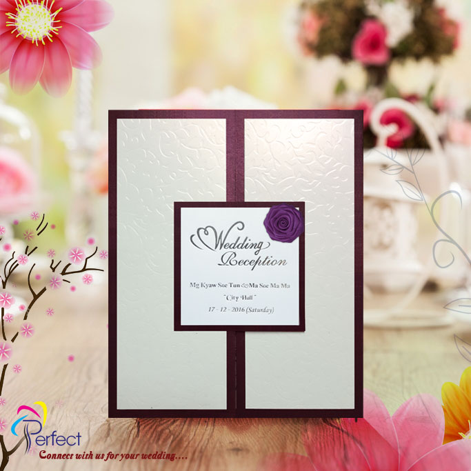 Perfect wedding invitation cards yangon marry perfect wedding invitation cards stopboris Image collections