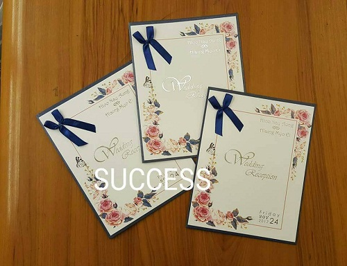 Success wedding invitation cards creation yangon marry success wedding invitation cards creation stopboris Image collections